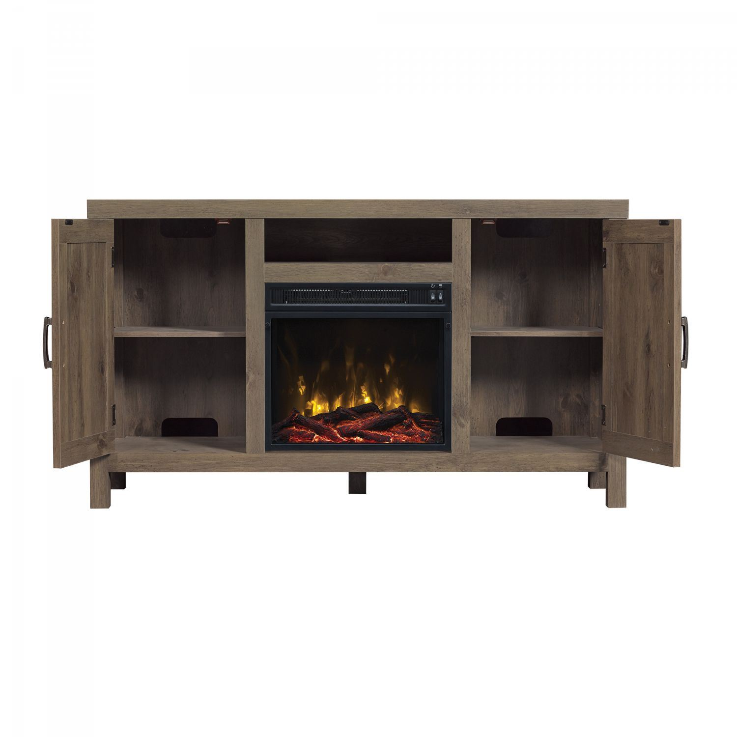 humboldt tv stand for tvs up to 55 with fireplace 18mm6076 pi14s classic flame twin star. Black Bedroom Furniture Sets. Home Design Ideas