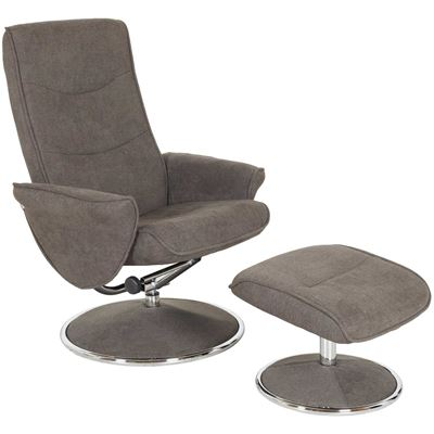 Picture of Blake Charcoal Recliner with Ottoman
