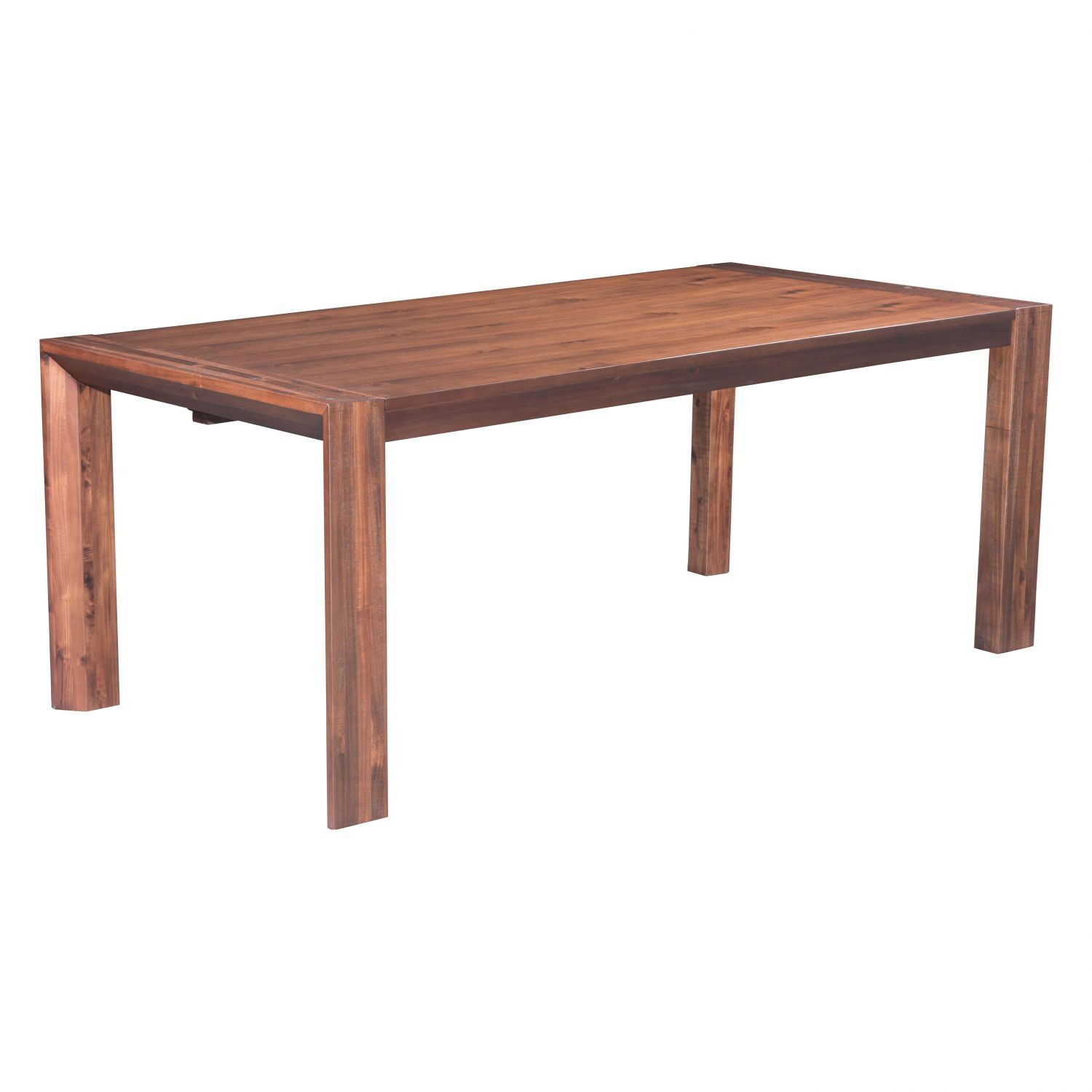 Perth Extension Dining Table Chestnut 100588 Zuo Modern Contemporary Afw