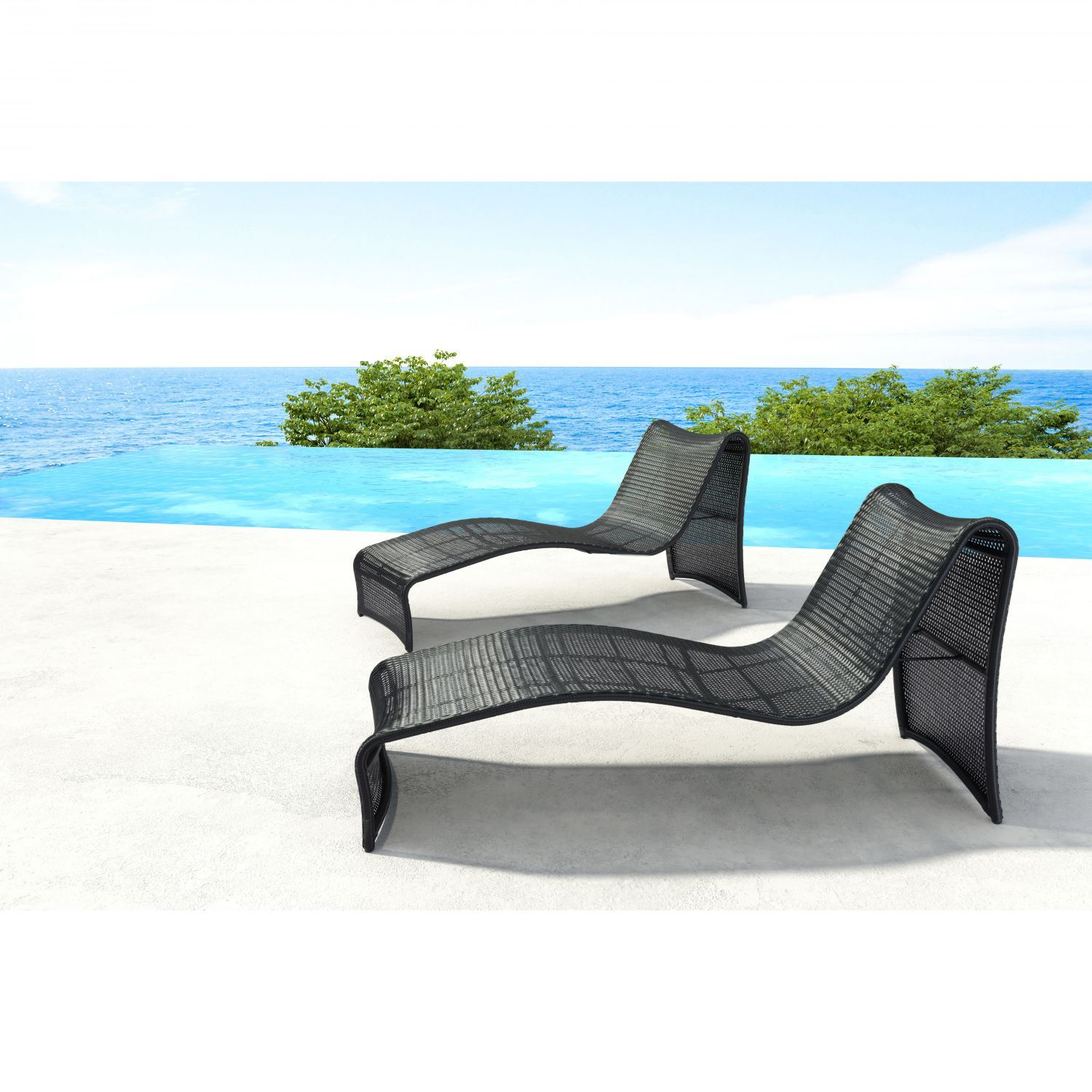 Rocky beach chaise lounge espresso 703842 zuo modern for Beach chaise lounger
