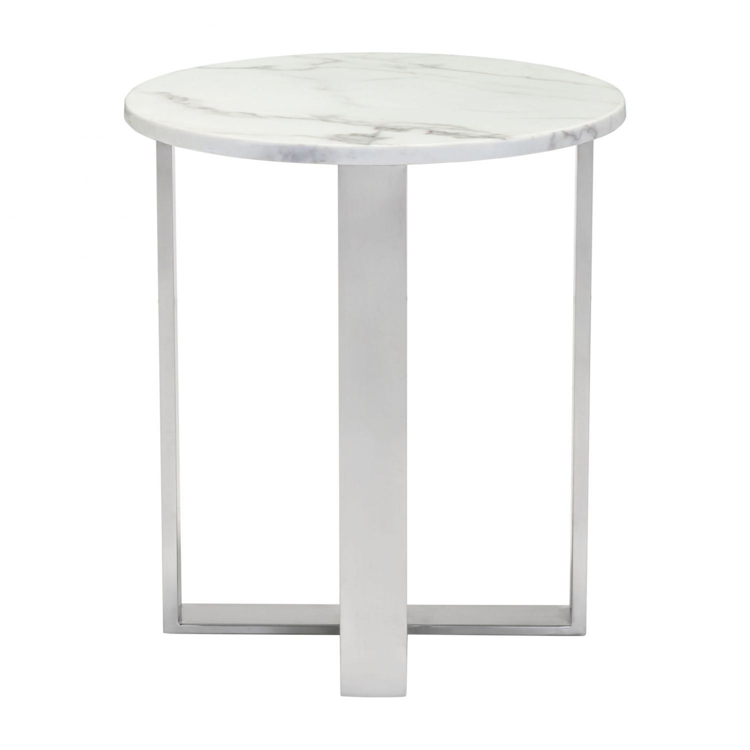 Atlas End Table Stone Stainless Steel 100711 Zuo Modern