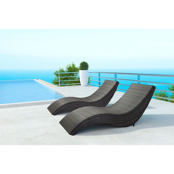 Hassleholtz beach chaise lounge brown 703839 zuo modern for Brown chaise lounge outdoor