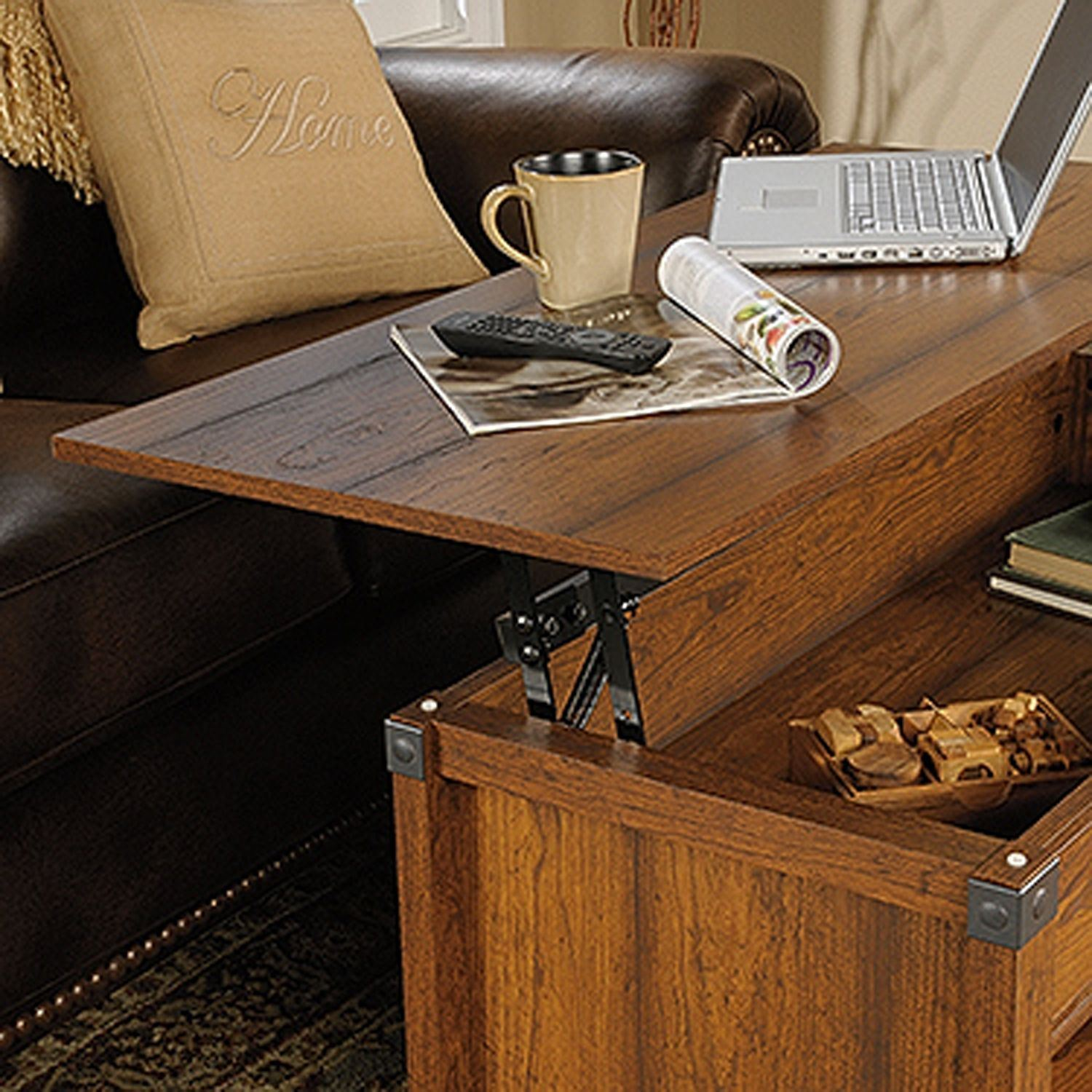 Carson Forge Lift Top Coffee Table Washington Cher