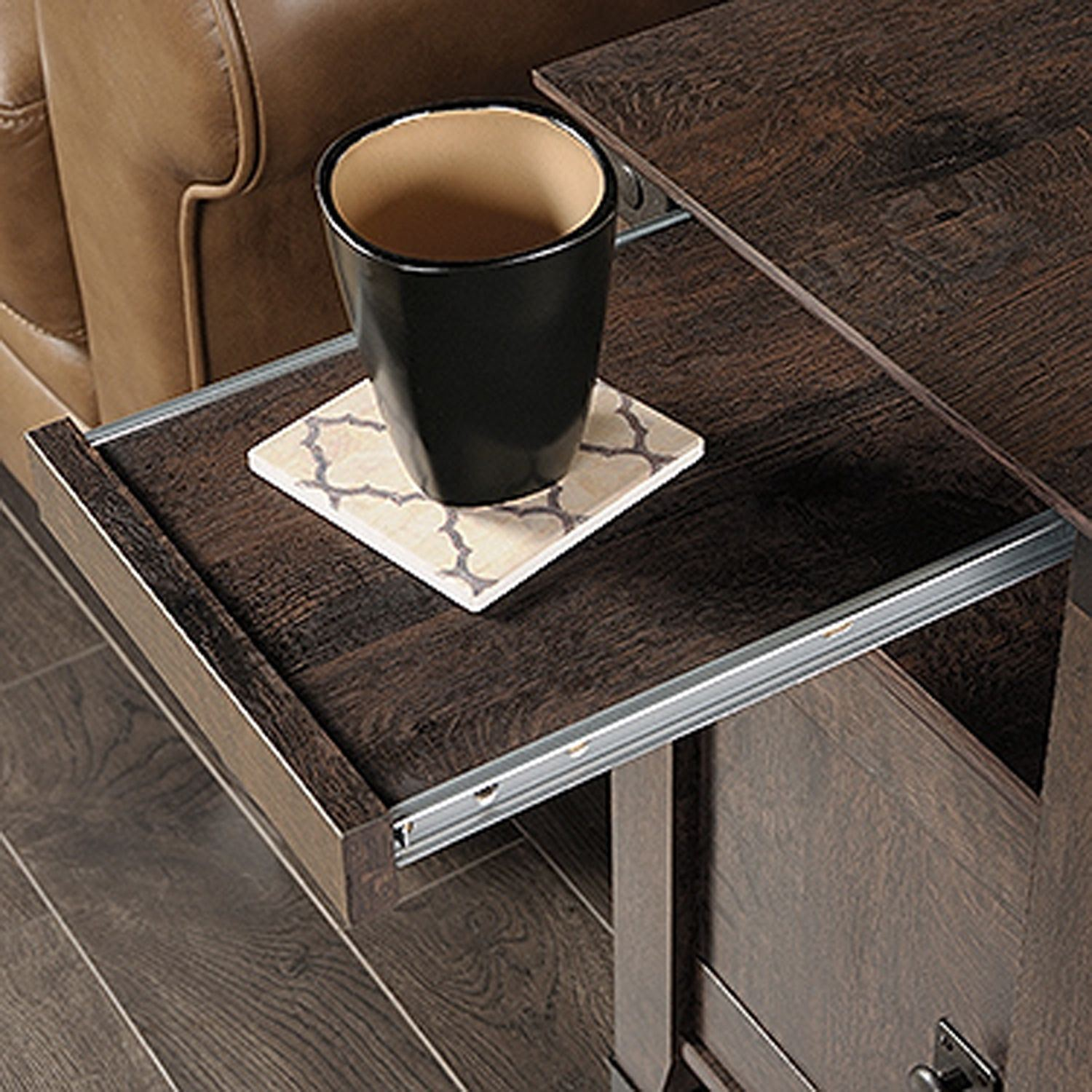Carson Forge Side Table Coffee Oak D 420422 Sauder