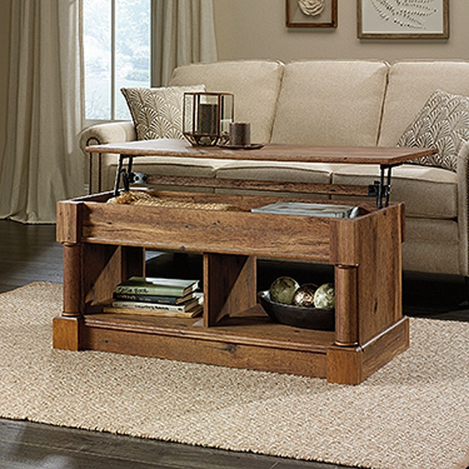 Palladia Lift-Top Coffee Table Vintage Oak * D