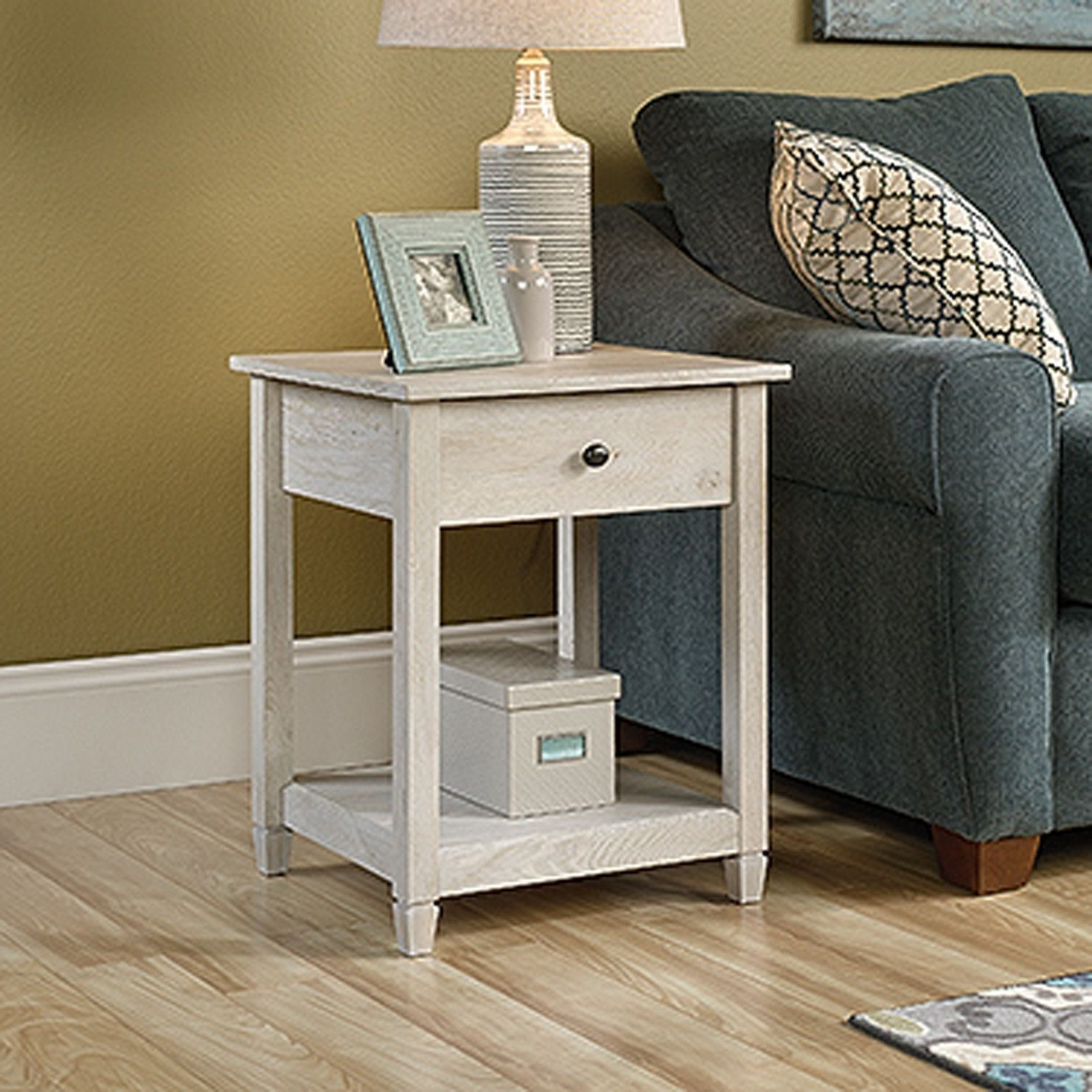 Edge Water Side Table Chalked Chestnut D 419239