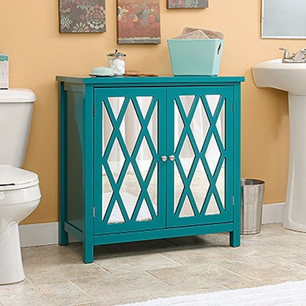 blue accent cabinet harbor view accent storage cabinet caribbean blue 12467