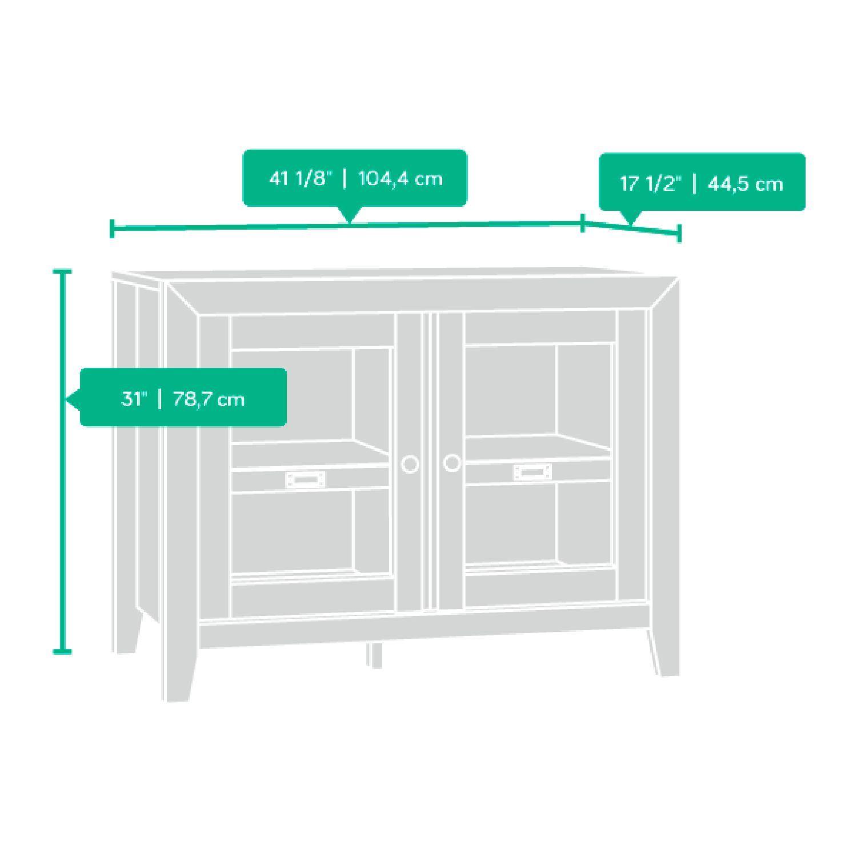 Dakota Pass Display Cabinet Craftsman Oak D 418268