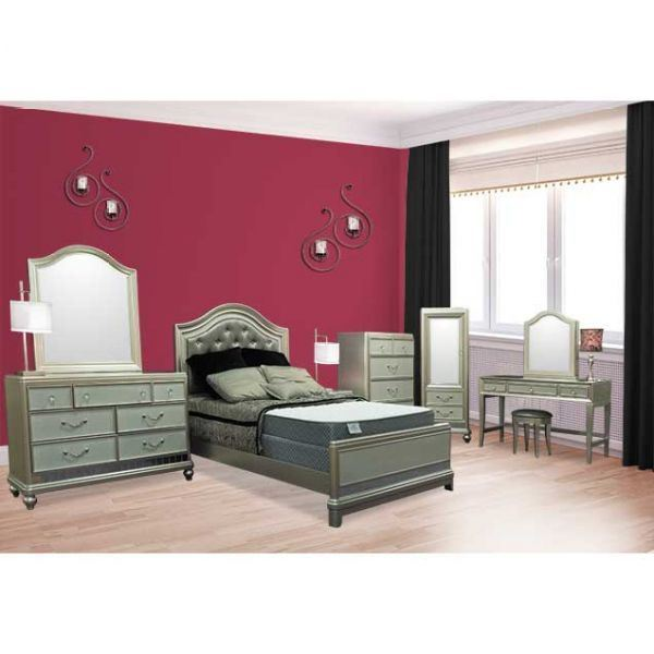 Perth king bed chestnut 100584 zuo modern contemporary afw for Bedroom furniture perth