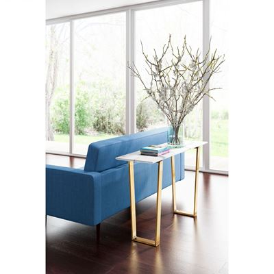 Picture of Atlas Console Table Stone & Gold *D