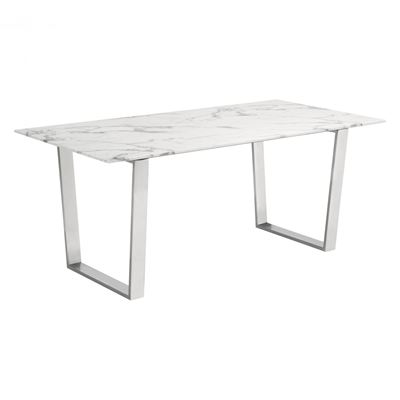 Picture of Atlas Dining Table Stone & Brushed Steel *