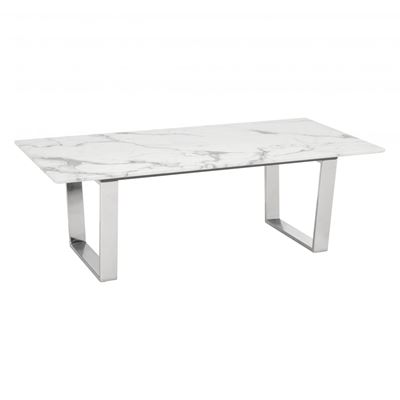 Picture of Atlas Coffee Table Stone & Brushed Stainless Steel