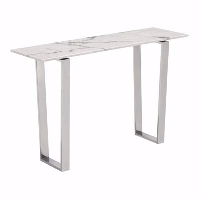 Picture of Atlas Console Table Stone & Brushed Stainless Stee