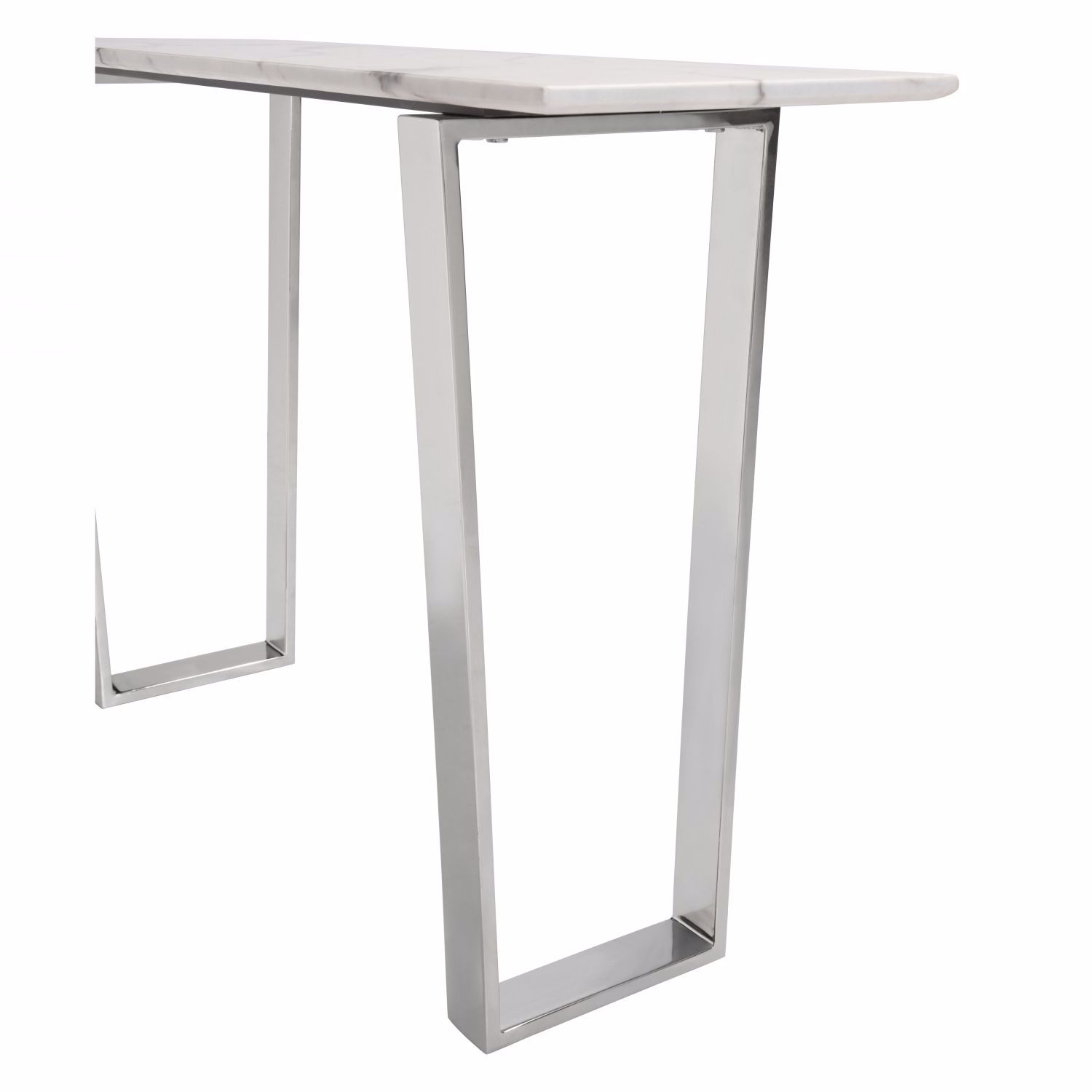 Atlas Console Table Stone Brushed Stainless Stee 100709