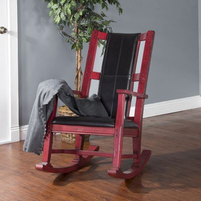 Picture of Wood Rocker Chair, Burnt  Red