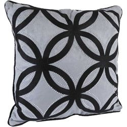 Picture of 18x18 Grey Lattice Pillow