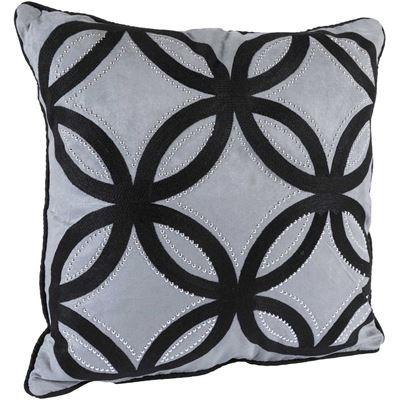 Picture of 18x18 Grey Lattice Pillow