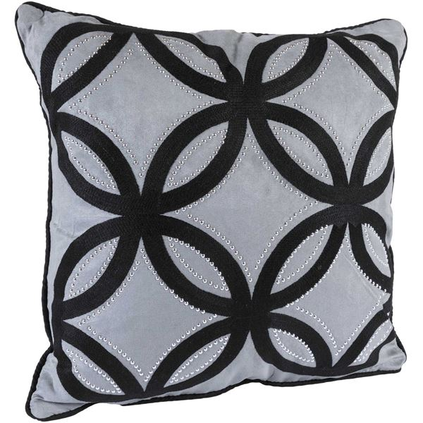 Foto para 18x18 Grey Lattice Pillow