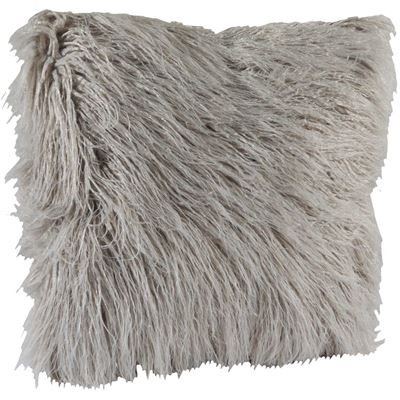 Picture of Grey Shaggy Fur 18x18 Pillow