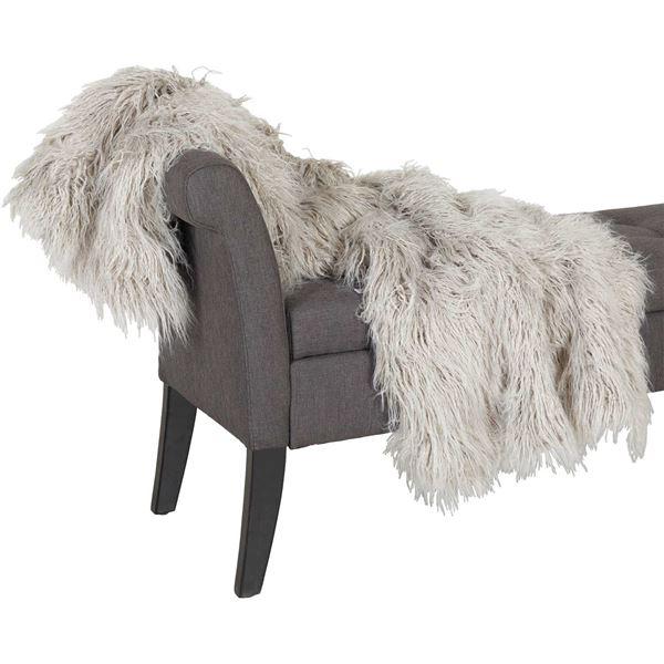 Foto para Grey Shaggy Fur 47x59 Blanket