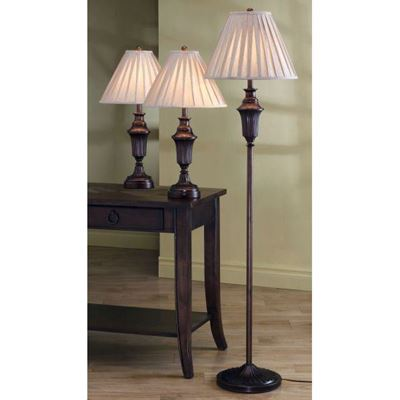 Imagen de 3 Pc Lamp Set, Dark Brown *D