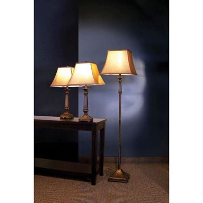 Imagen de 3 Pc Lamp Set, Brown *D