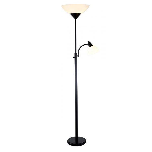 Black Torchierer Floor Lamp 101 7202blk Adesso 7202