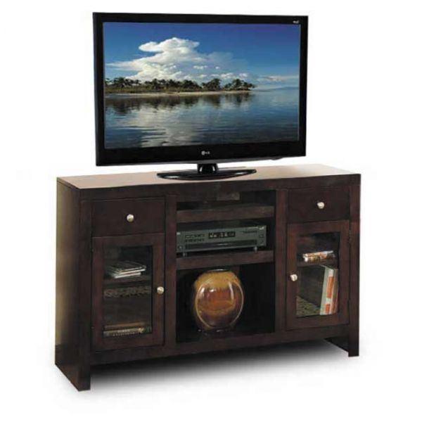 Del Mar Tall Cherry Tv Console 33con Ch Whalen Furniture Afw