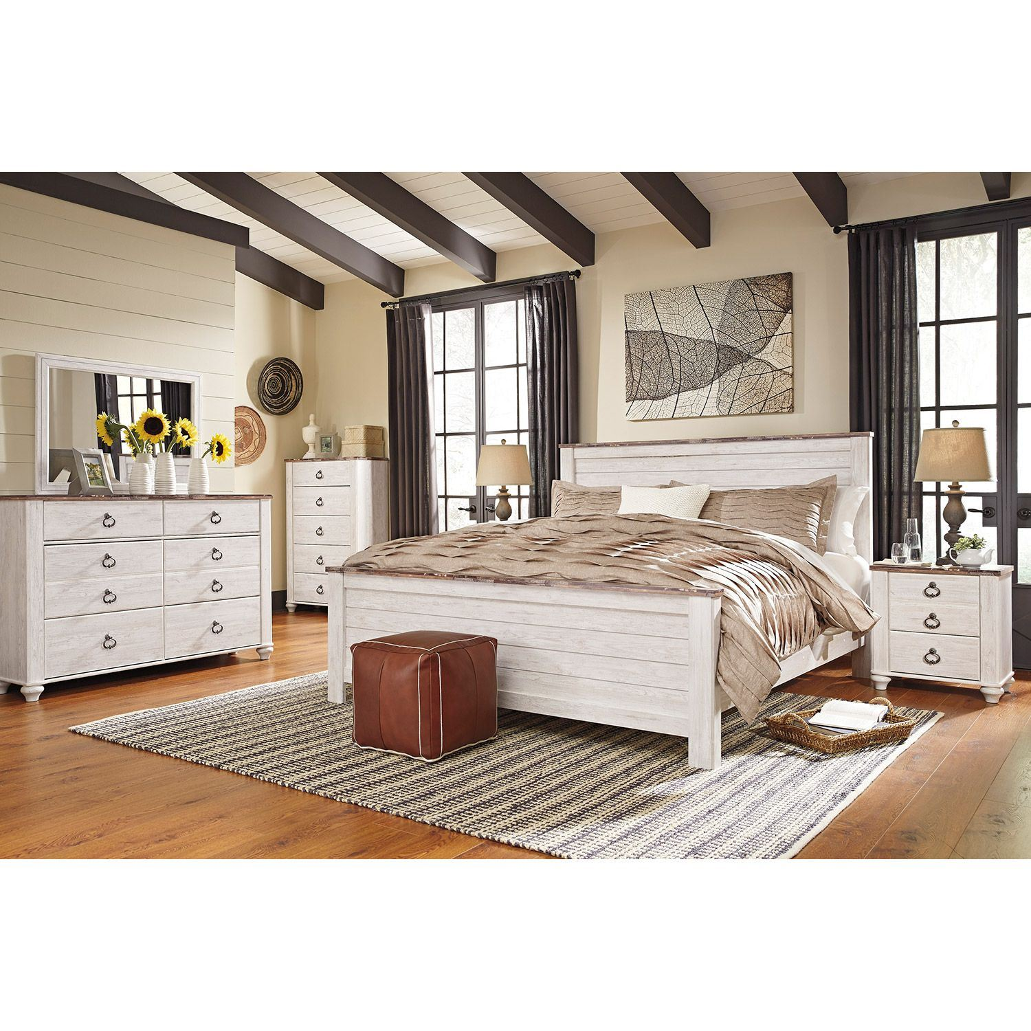 Willowton King Panel Bed B267 Kpnlbed Ashley Furniture Afw