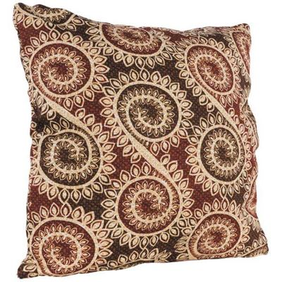 Picture of Red Brown Spiral 22x22 Pillow *P