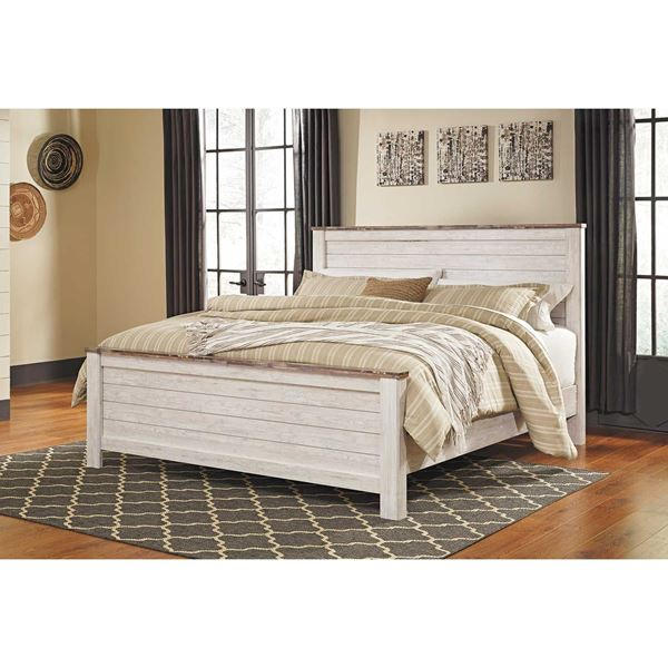 picture of willowton king panel bed - King Panel Bed
