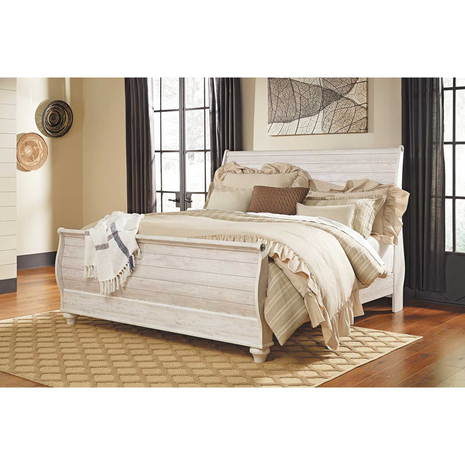 Willowton King Sleigh Bed B267 Ksleighbed Ashley Furniture Afw