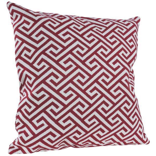 Picture Of Red Greek Key 22x22 Pillow P
