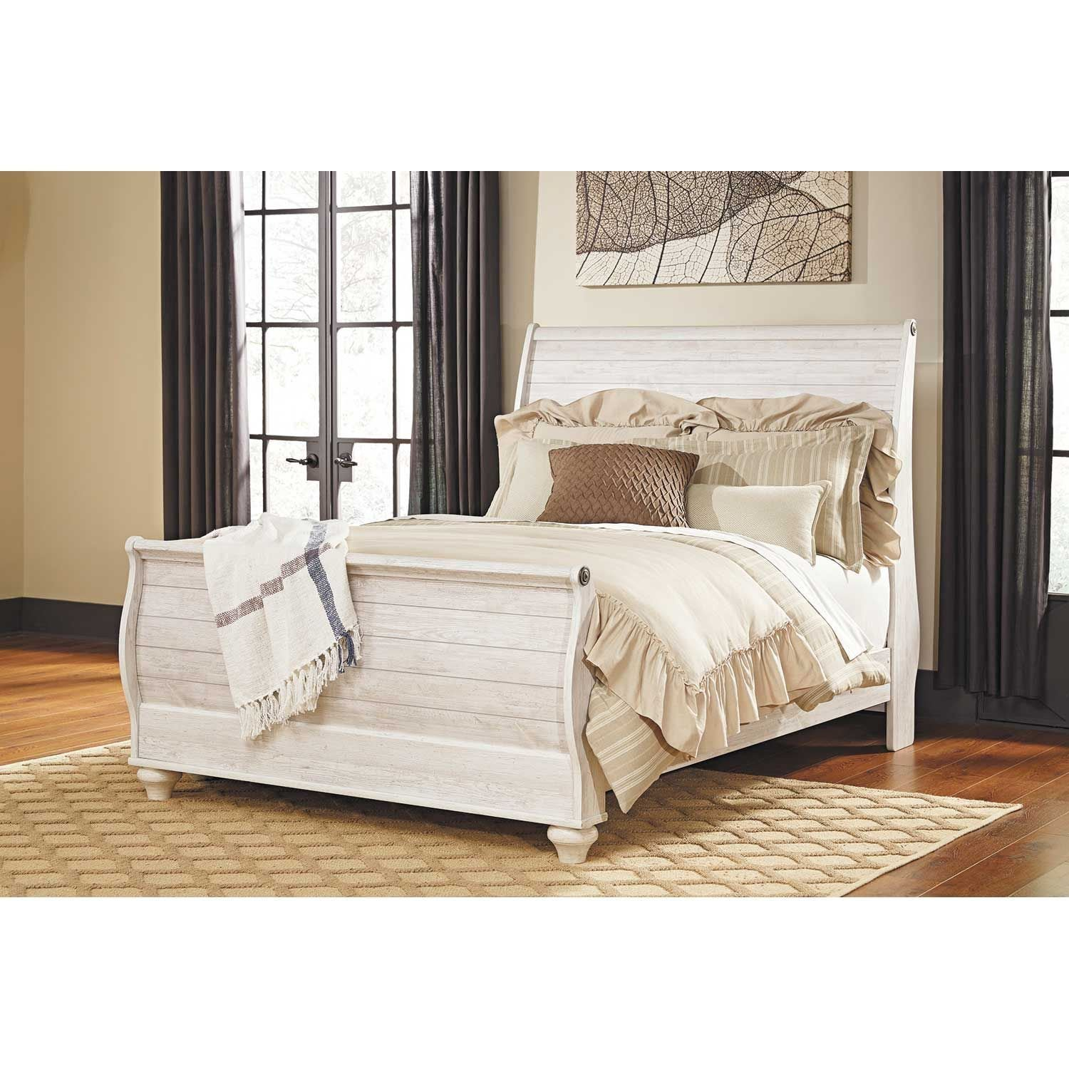 Willowton Queen Sleigh Bed B267 Qsleighbed Ashley