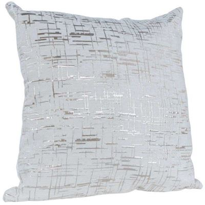 Picture of White and Silver 18x18 Pillow *P