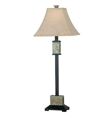 Imagen de Pair of Bennington Slate Buffet Table Lamps