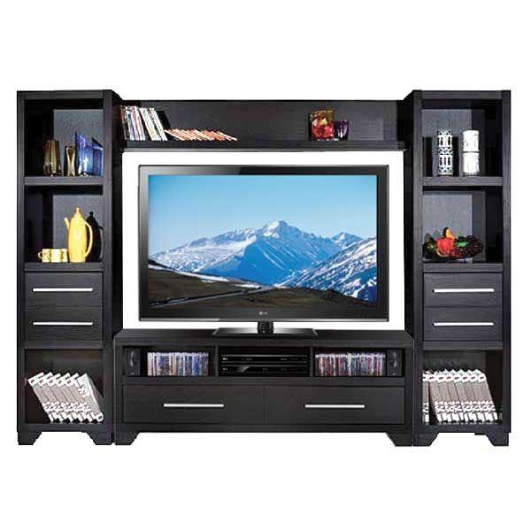black entertainment wall unit 2706 by idusa afw. Black Bedroom Furniture Sets. Home Design Ideas