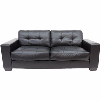 ashton black sofa - Black Leather Loveseat