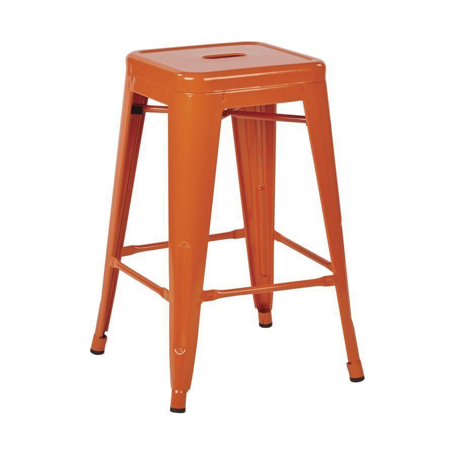 24in Mtl Orange Backless Stool 4pk Ptr3024a4 18 Office