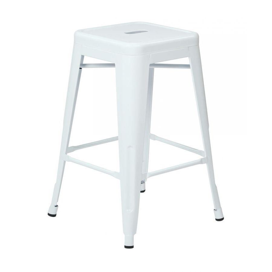 24in Mtl Backless White Stool 4pk Ptr3024a4 11 Office