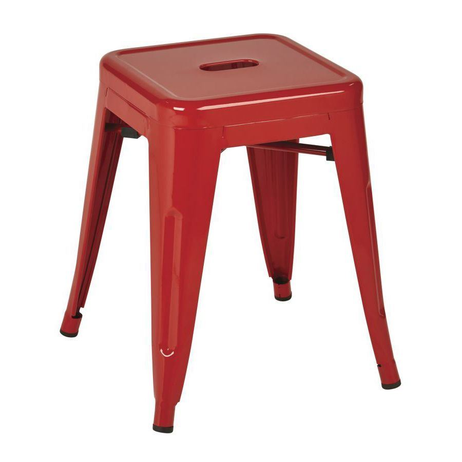 Picture Of 18 Inch Backless Mtl Red Stool 2 Pack D