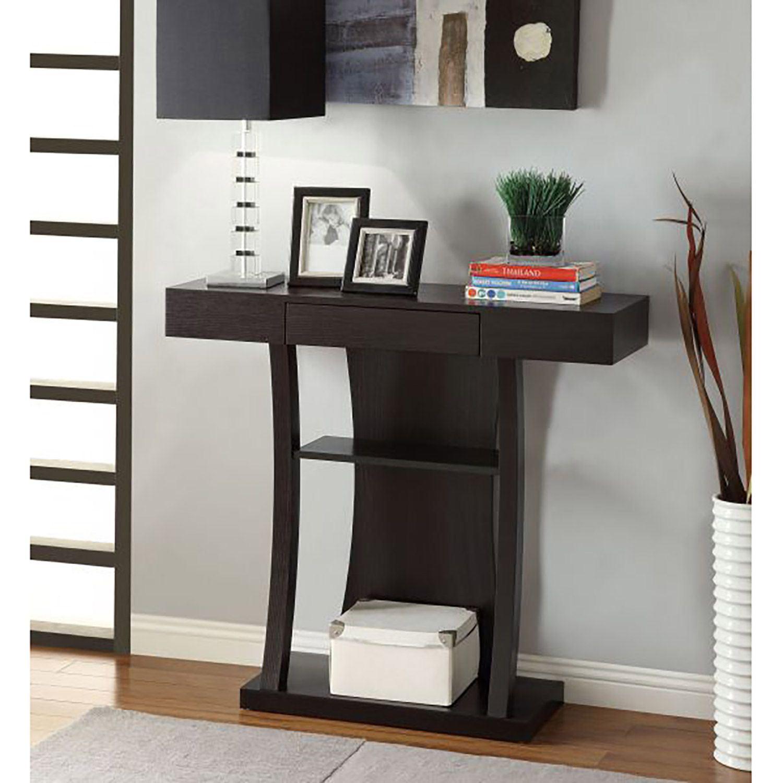 Console table cappuccino 950048 coaster company afw for Coaster co of america furniture