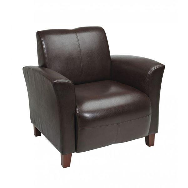 Charmant Mocha Bonded Leather Club Chair *D