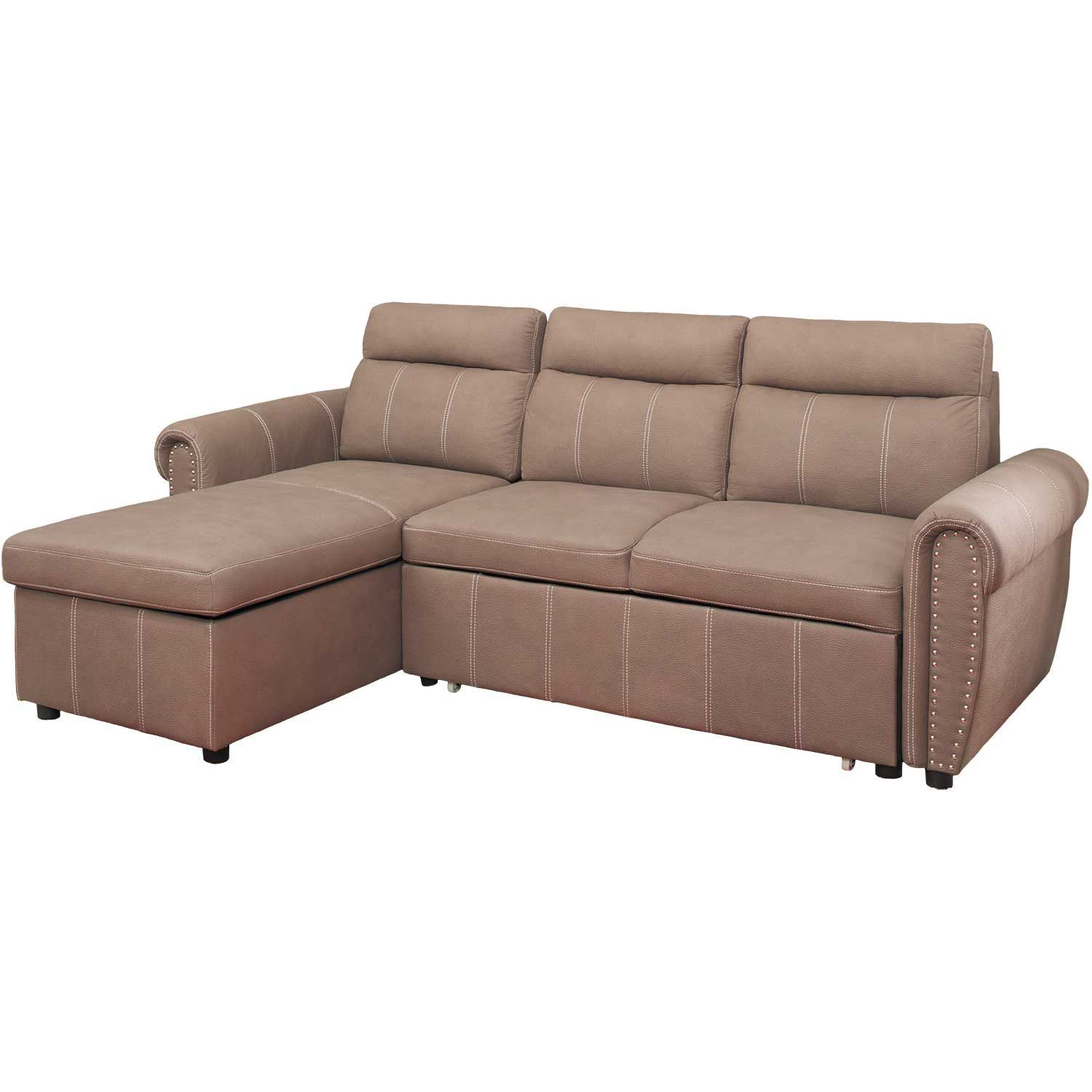 Farrel 2 Piece Sectional With Pull Out Bed 1a Far 2pc