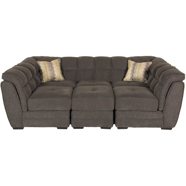 Pit Sectional Couches clio gray 4-piece pit sectional | 1a-100-4pc | vogue furniture