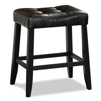 "Picture of Aaron Portman 24"" Black Barstool"