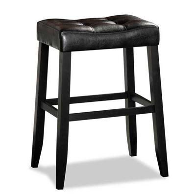 "Picture of Aaron Portman 29"" Black Barstool"