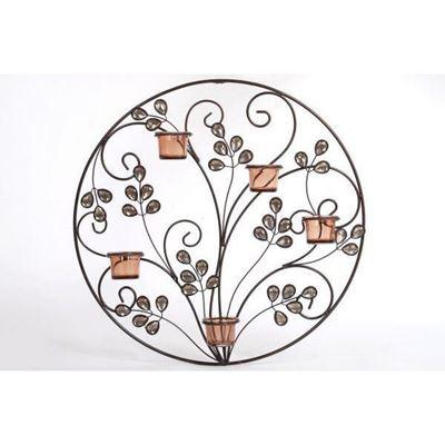 Imagen de Floral Amber Votive Wall Décor