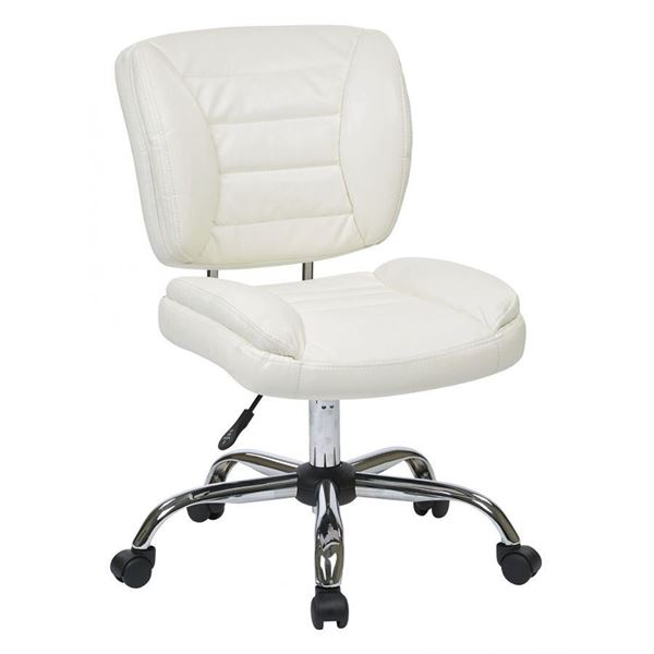 Picture Of White Armless Office Chair D