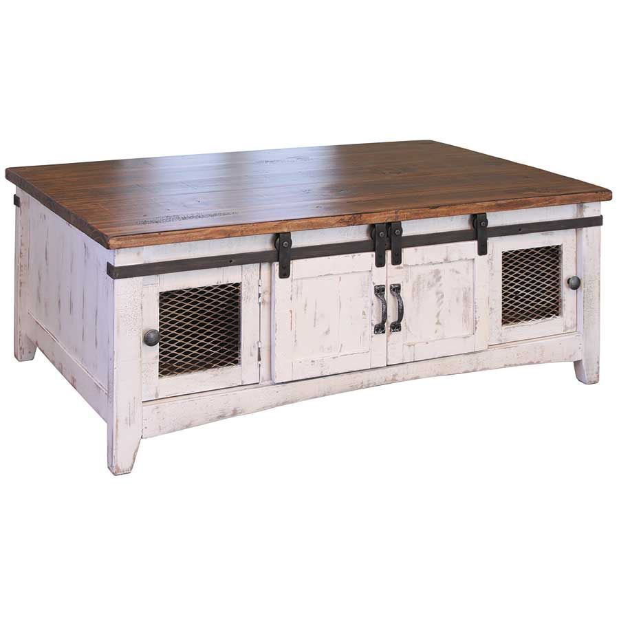 Pueblo White Cocktail Table Ifd360cktl W Artisan Home